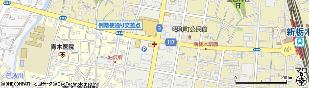 栃木県栃木市昭和町周辺の地図