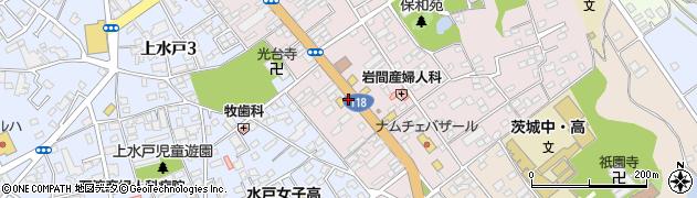 茨城県水戸市末広町周辺の地図