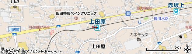 長野県上田市周辺の地図