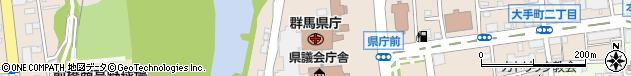 群馬県周辺の地図
