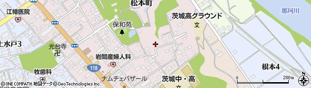 茨城県水戸市松本町周辺の地図