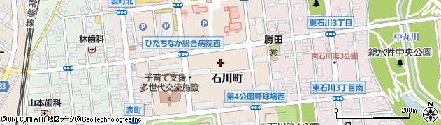 茨城県ひたちなか市石川町周辺の地図