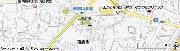栃木県栃木市箱森町周辺の地図