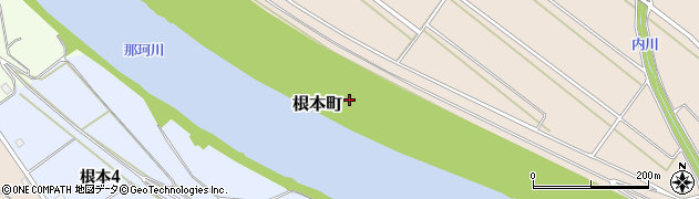 茨城県水戸市根本町周辺の地図