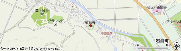 道林寺周辺の地図