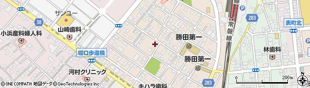 茨城県ひたちなか市勝田本町周辺の地図