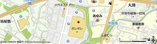 笠間ショッピングセンター・ポレポレシティ めぐみや周辺の地図