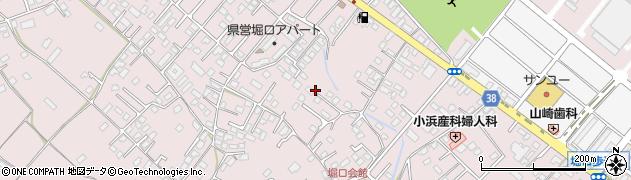 茨城県ひたちなか市堀口周辺の地図
