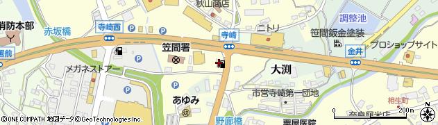 株式会社タナカ 笠間国道給油所周辺の地図