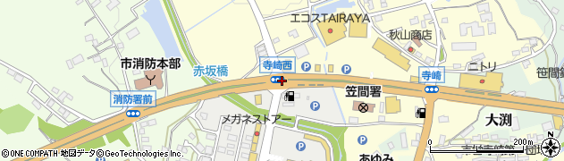 寺崎西周辺の地図