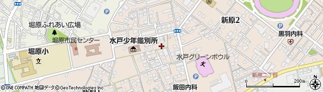 茨城県水戸市新原周辺の地図