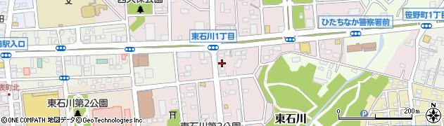 茨城県ひたちなか市東石川周辺の地図
