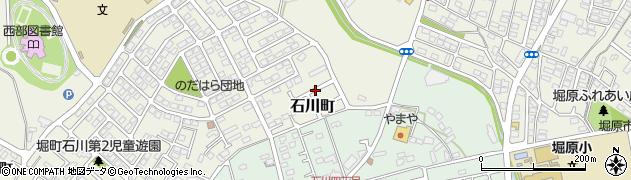 茨城県水戸市石川町周辺の地図