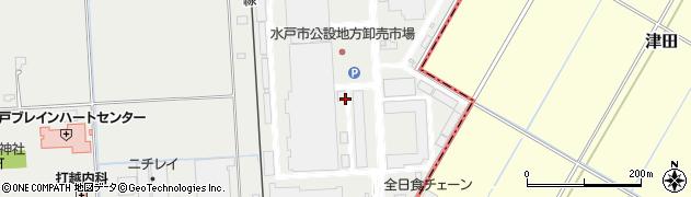 水戸市公設地方卸売市場 水戸中央青果株式会社周辺の地図