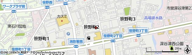 茨城県ひたちなか市笹野町周辺の地図