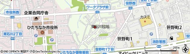東石川団地周辺の地図