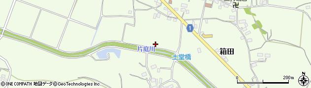 茨城県笠間市箱田周辺の地図