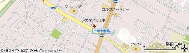 メガネ・パリミキ 勝田店周辺の地図
