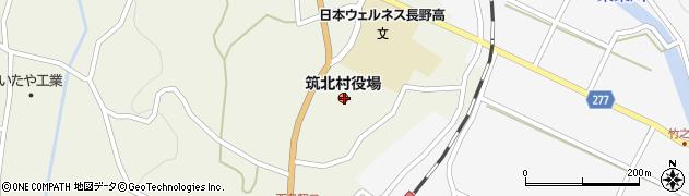 長野県東筑摩郡筑北村周辺の地図