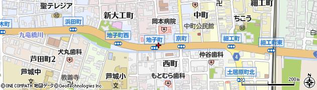 地子町周辺の地図