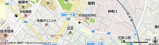 群馬県桐生市川岸町周辺の地図