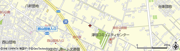 茨城県ひたちなか市津田周辺の地図