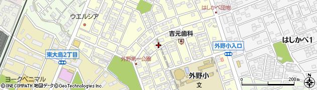 茨城県ひたちなか市外野周辺の地図