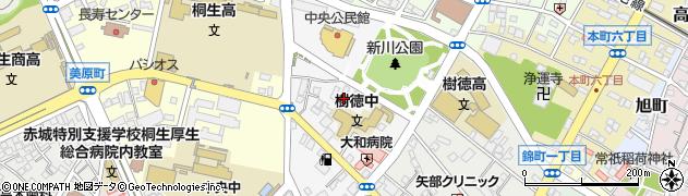 群馬県桐生市稲荷町周辺の地図
