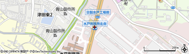 少年刑務所北側周辺の地図