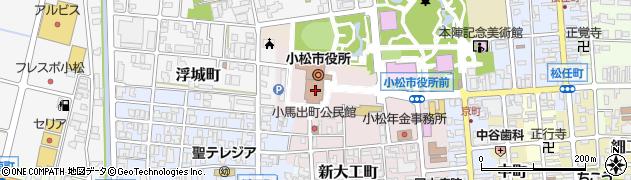 石川県小松市周辺の地図