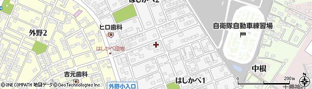 茨城県ひたちなか市はしかべ周辺の地図