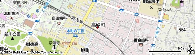 群馬県桐生市高砂町周辺の地図