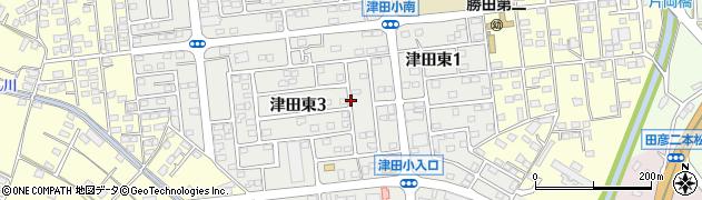 茨城県ひたちなか市津田東周辺の地図