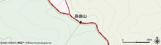 鼻曲山周辺の地図