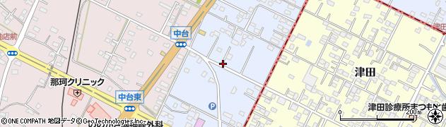 茨城県那珂市津田周辺の地図