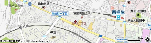 群馬県桐生市宮前町周辺の地図