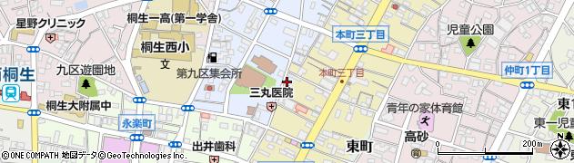 群馬県桐生市宮本町周辺の地図