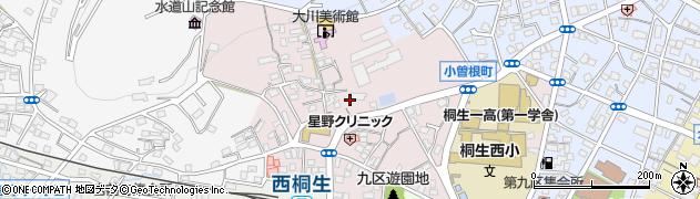 群馬県桐生市小曾根町周辺の地図