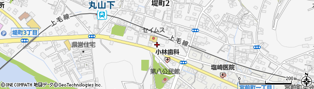 群馬県桐生市堤町周辺の地図