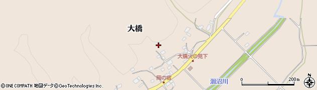 茨城県笠間市大橋周辺の地図