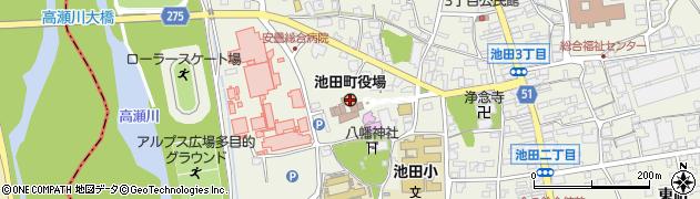 長野県池田町(北安曇郡)周辺の地図