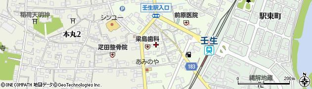 栃木県下都賀郡壬生町中央町16周辺の地図
