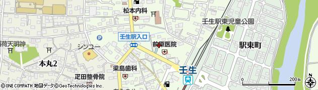 栃木県下都賀郡壬生町中央町4周辺の地図
