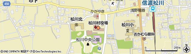 長野県松川村(北安曇郡)周辺の地図