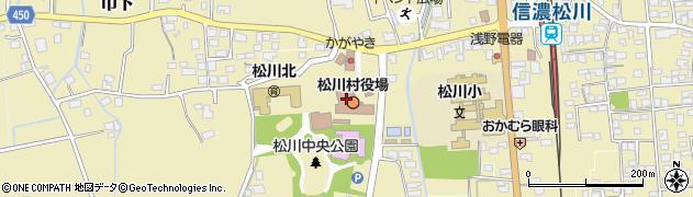 長野県北安曇郡松川村周辺の地図