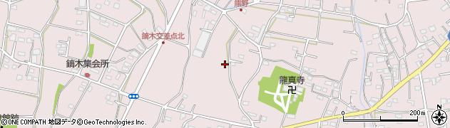 群馬県桐生市新里町新川周辺の地図