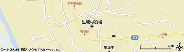 長野県生坂村(東筑摩郡)周辺の地図