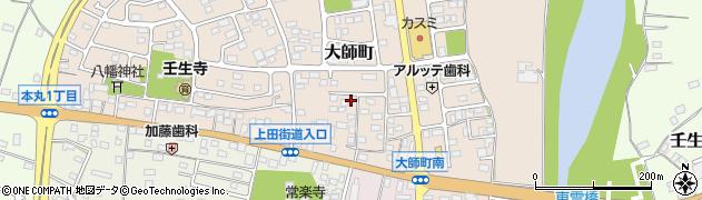 栃木県下都賀郡壬生町大師町周辺の地図
