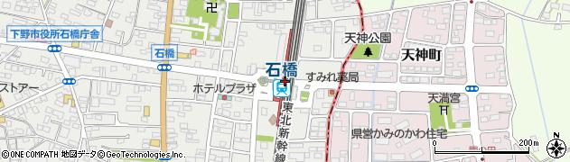 栃木県下野市周辺の地図