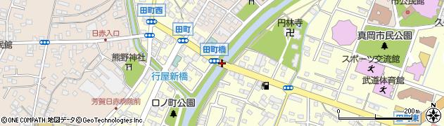 田町橋周辺の地図